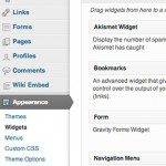Go to Dashboard-Appearance-Widgets